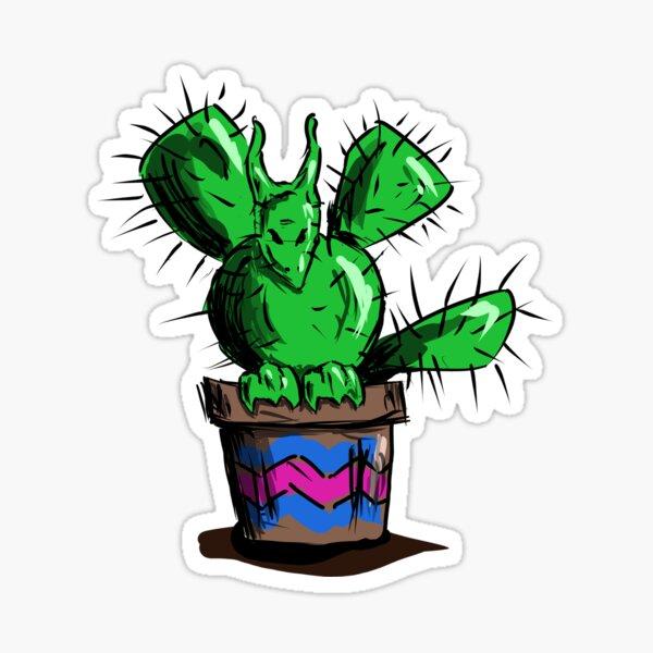 Cute but Dangerous Cactus Dragon Sticker
