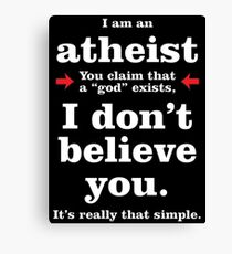 Simply Atheist Canvas Print