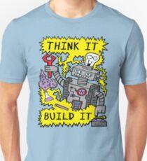 Think Build Robot T-Shirt