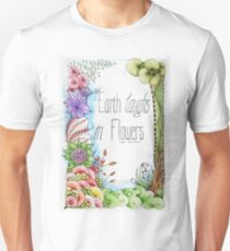 'The Earth Laughs in Flowers' Watercolour T-Shirt