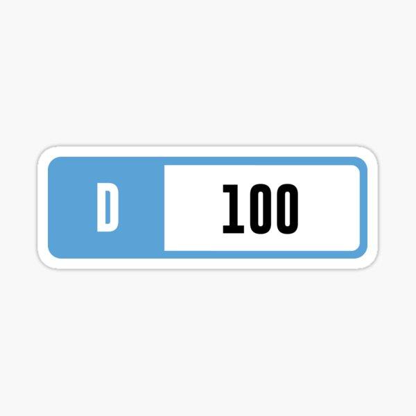 D 100 - Forza Performance Index Sticker