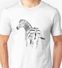 THE ZEBRA TEE - In black and white Unisex T-Shirt