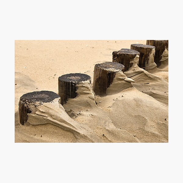 Shapes and paterns on the beach Photographic Print