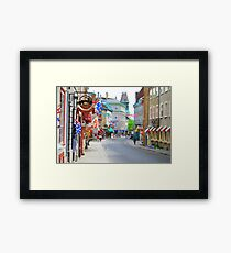 Colourful Quebec City Shops Framed Print