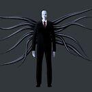 Slender Man with Black Tentacles by DrewChial