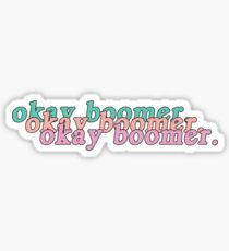 retro Okay Boomer. Sticker
