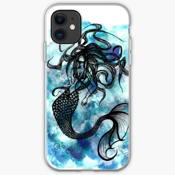 Mermaid Watercolor iPhone Soft Case