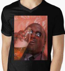 MORPHEUSDRINKINAFORTYINADEATHBASKET Men's V-Neck T-Shirt