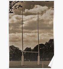 Rugby goal post at Rugby School Poster