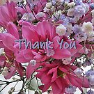 Thank you - floral note cards and stickers by LeisureLane1