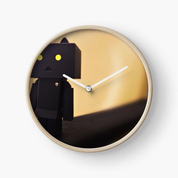dark cat Clock