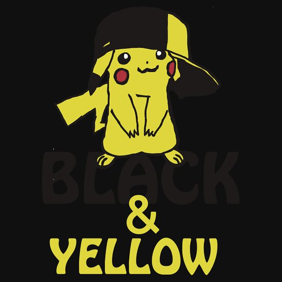 TShirtGifter presents: Black and Yellow ( Pika Pika )