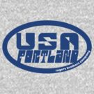 usa portland logo tshirt by rogers bros by usaportland