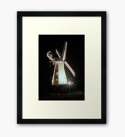 Floodlit Windmill Framed Print