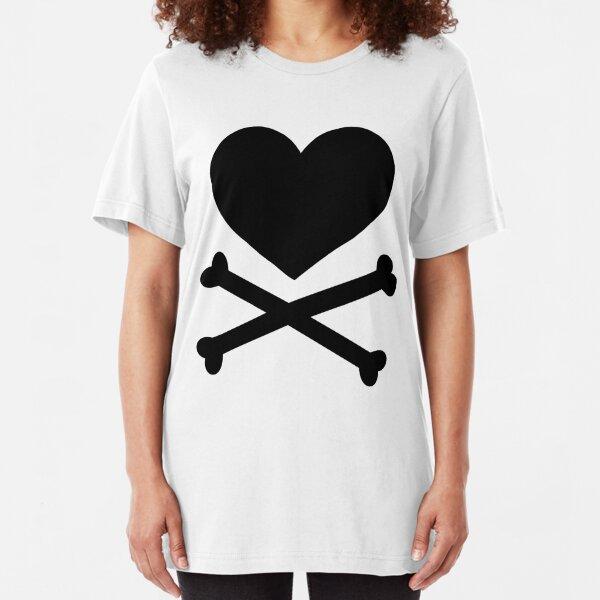 Pirate Love (Black). Slim Fit T-Shirt