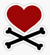 Pirate Love (Red/Black). Sticker