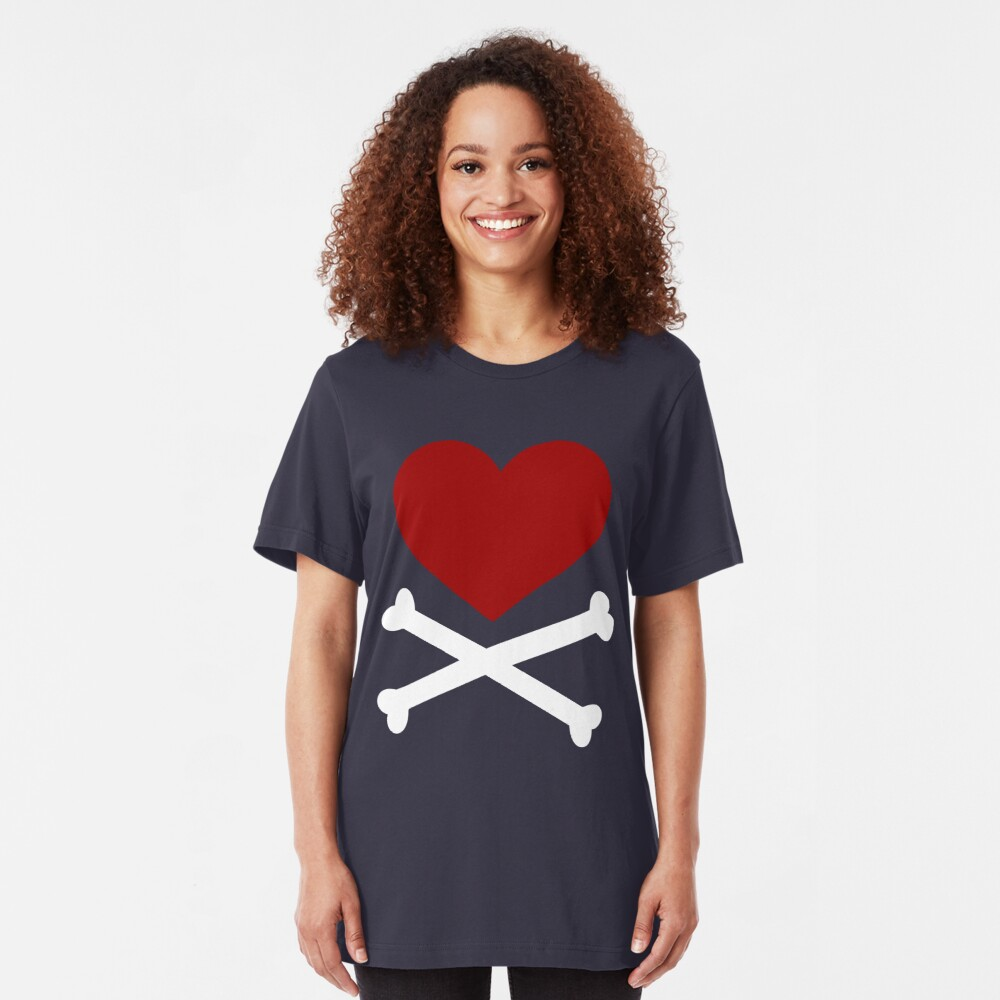 Pirate Love (Red/White). Slim Fit T-Shirt