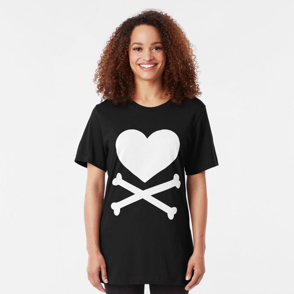 Pirate Love (White). Slim Fit T-Shirt
