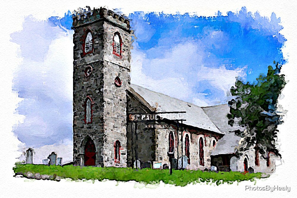 St Paul's Anglican - watercolour by PhotosByHealy