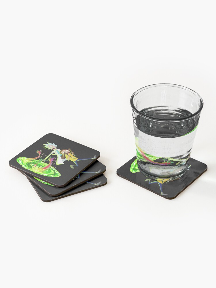 Alternate view of Rick and morty portal monster Coasters (Set of 4)