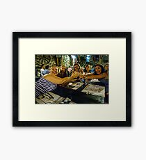 All for one and ....  Framed Print