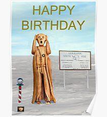 The Scream World Tour South Pole Happy Birthday Poster