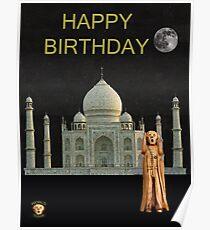 The Scream World Tour India Taj Mahal Happy Birthday Poster