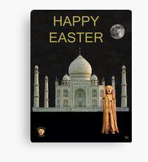The Scream World Tour India Taj Mahal Happy Easter Canvas Print