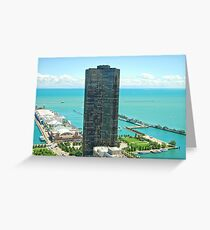 Chicago Lake Point Tower - Clover Building  If you like, please purchase, try a cell phone cover thanks Greeting Card