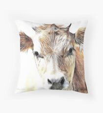 Jersey Milk Cow Throw Pillow