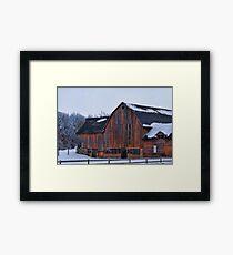 Manning Trail Barn Framed Print