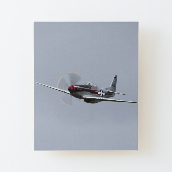P-51D Mustang flyby Wood Mounted Print