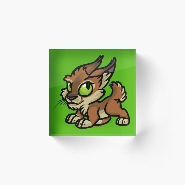 Blood Elf Cuties - Lynx Acrylic Block