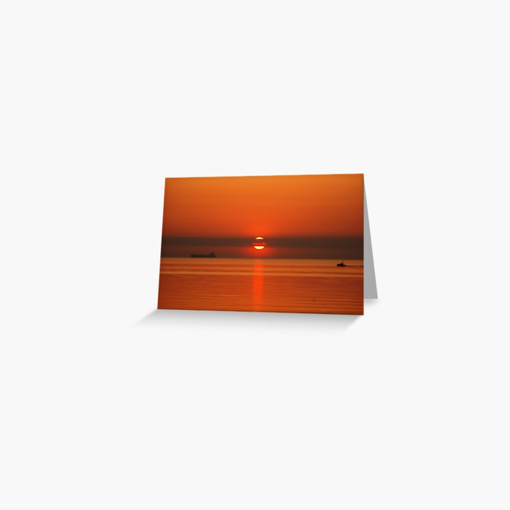 Sunrise Over The Baltic Greeting Card