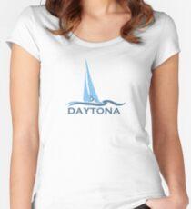 Daytona Beach. Women's Fitted Scoop T-Shirt