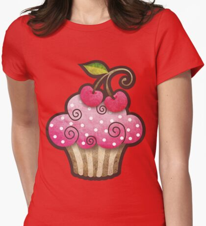 Cherry Berry Cupcake T-Shirt