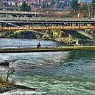 Walking Bridges Over the Spokane River by Susan Russell