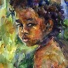 Ethnic Boy watercolor painting Svetlana Novikova by Svetlana  Novikova