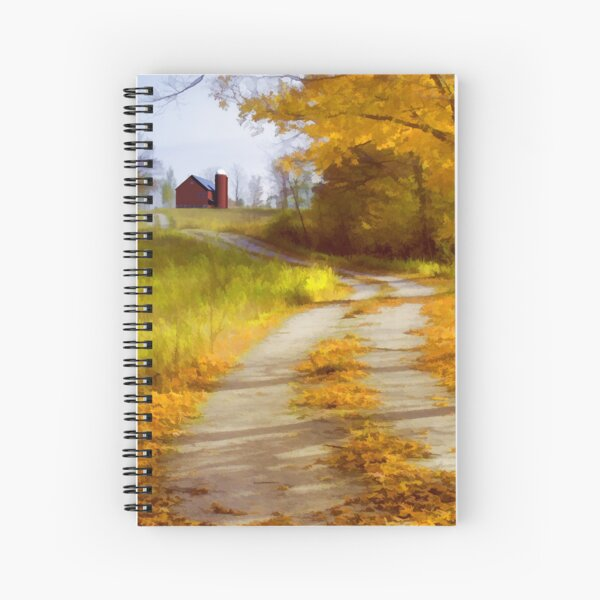 Country Road with Barn Spiral Notebook