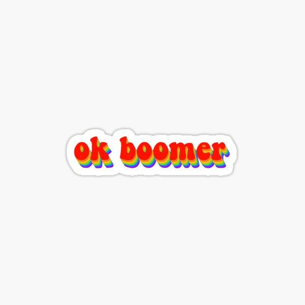 ok boomer groovy Sticker