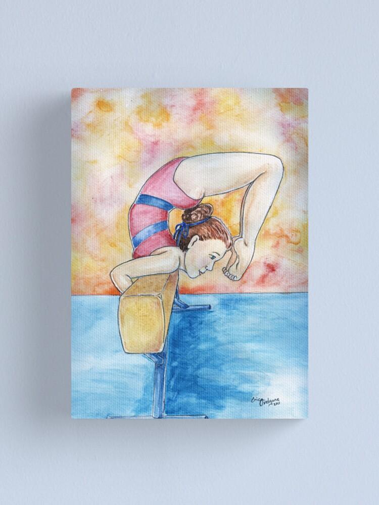 Alternate view of Gymnastic Champion Canvas Print