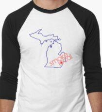 Smoke Local Weed in Detroit Michigan (MI) Men's Baseball ¾ T-Shirt
