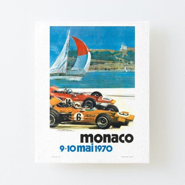 Poster du Monaco Grand Prix 1970 Impression montée sur toile