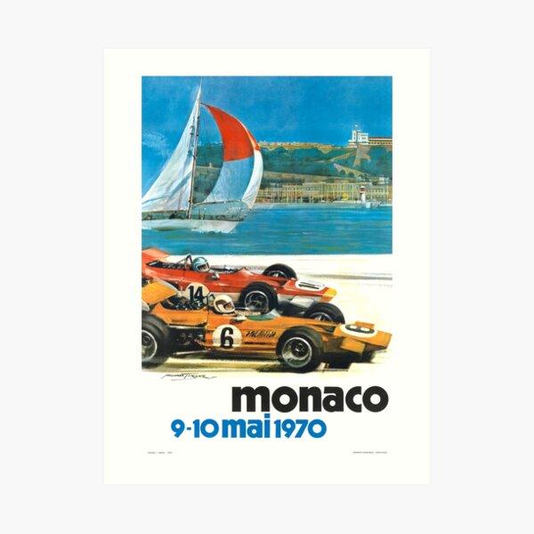 1970 Monaco Grand Prix Racing Poster Art Print