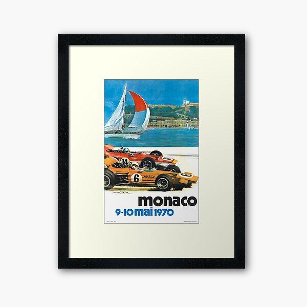 1970 Monaco Grand Prix Racing Poster Framed Art Print