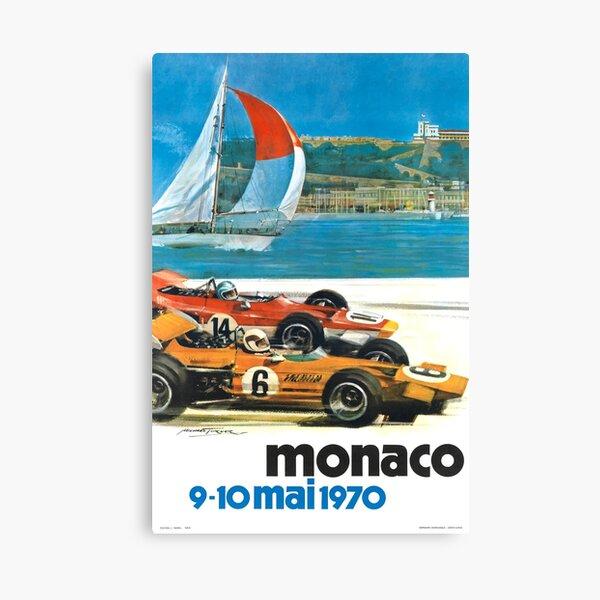 Poster du Monaco Grand Prix 1970 Impression sur toile