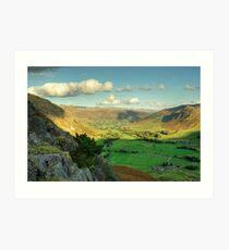 Langdale Valley Views Art Print