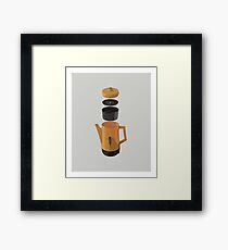 Yellow Coffee Pot Framed Print