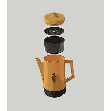 Yellow Coffee Pot by hendoNZ