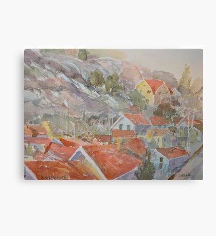 Red Roofs Two Canvas Print